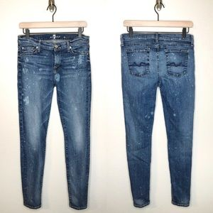 7 for all Mankind The Skinny Bleached Jeans